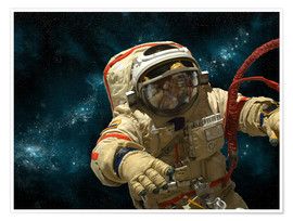 Plakat  A cosmonaut against a background of stars. - Marc Ward