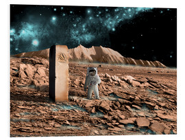 Obraz na PCV  Astronaut on an alien world discovers an artifact that indicates past intelligent life. - Marc Ward