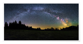 Plakat Milky Way arching over the trees
