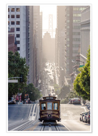 Plakat  Cable car in San Francisco - Matteo Colombo