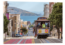 Obraz na szkle akrylowym  Cable car on a hill in the streets of San Francisco, California, USA - Matteo Colombo