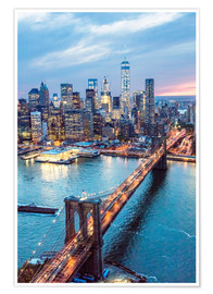 Plakat Brooklyn bridge and lower Manhattan