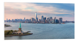 Obraz na PCV  New York skyline with Statue of Liberty - Matteo Colombo