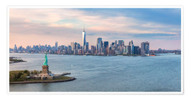 Plakat New York skyline with Statue of Liberty