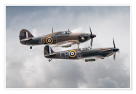 Plakat BBMF SPit and Hurry