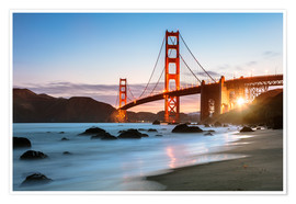 Plakat Golden Gate Bridge mystical