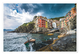 Plakat Riomaggiore during a storm