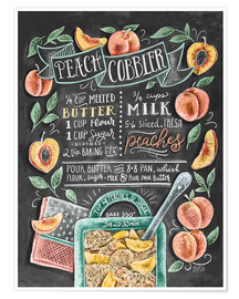 Plakat Peach Cobbler recipe