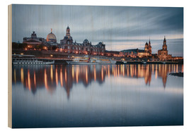 Obraz na drewnie  Dresden old town at the blue hour - Philipp Dase