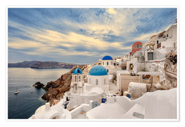 Plakat View of Oia, Santorini