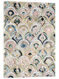 Obraz na szkle akrylowym  Art Deco Marble Tiles in Soft Pastels - Micklyn Le Feuvre