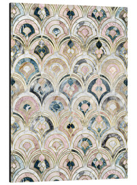 Obraz na aluminium  Art Deco Marble Tiles in Soft Pastels - Micklyn Le Feuvre