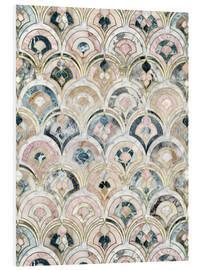Obraz na PCV  Art Deco Marble Tiles in Soft Pastels - Micklyn Le Feuvre