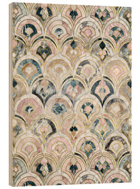 Obraz na drewnie  Art Deco Marble Tiles in Soft Pastels - Micklyn Le Feuvre