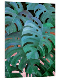 Obraz na PCV  Monstera Love in Teal and Emerald Green - Micklyn Le Feuvre