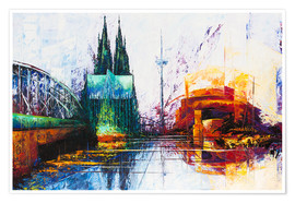 Plakat  Cologne Cathedral Skyline - Renate Berghaus