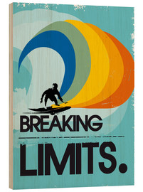 Obraz na drewnie  Retro surfer, breaking limits - 2ToastDesign