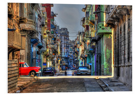 Obraz na PCV  In the streets of Havana - HADYPHOTO