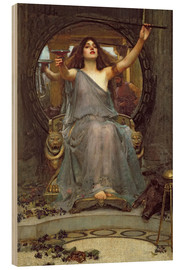 Obraz na drewnie  Circe Offering the Cup to Ulysses - John William Waterhouse