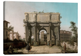 Obraz na płótnie  Arch of Constantine with the Colosseum - Antonio Canaletto