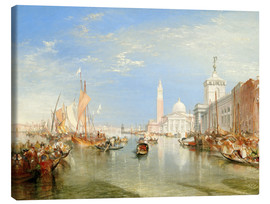 Obraz na płótnie  Venice, The Dogana and San Giorgio Maggiore - Joseph Mallord William Turner