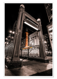 Plakat Chicago Theatre , Illinois
