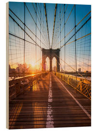 Obraz na drewnie  Brooklyn Bridge in the sunlight, New York City, USA - Jan Christopher Becke