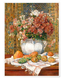 Plakat  Still Life with Flowers and Prickly Pears - Pierre-Auguste Renoir