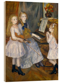 Obraz na drewnie  The Daughters of Catulle Mend?s - Pierre-Auguste Renoir
