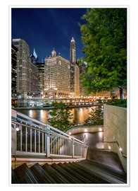 Plakat Chicago River Walk