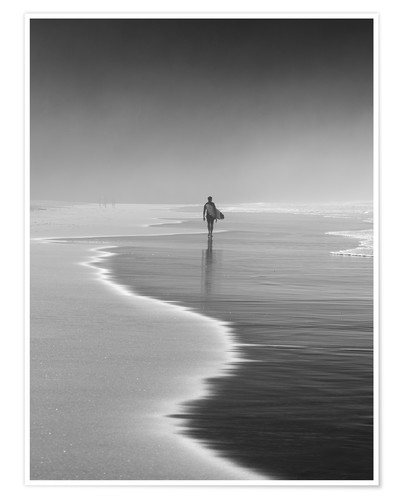 Plakat Lone surfer at the beach