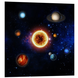 Obraz na PCV  Our sun and planets