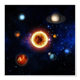 Plakat Our sun and planets