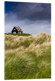 Obraz na szkle akrylowym  Cottage in the dunes during storm