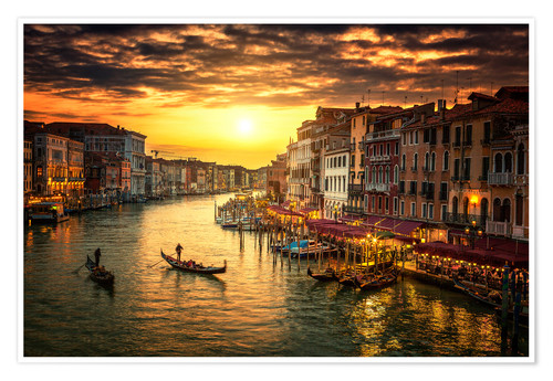 Plakat Grand Canal at sunset