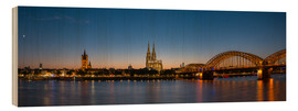 Obraz na drewnie  Cologne at sunset panorama - rclassen