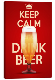 Obraz na płótnie  Keep Calm And Drink Beer