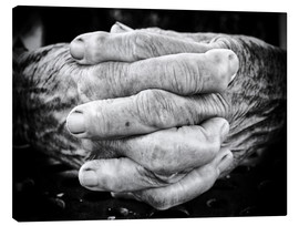 Obraz na płótnie  Hands of an old man