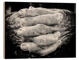 Obraz na drewnie  Hands of an old man