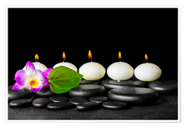 Plakat spa still life with candles