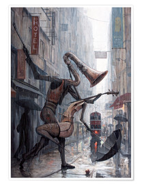Plakat  Life is a dance in the rain - Adrian Borda