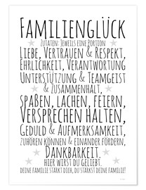 Plakat Ingredients for Family Happiness (German)
