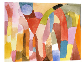 Obraz na szkle akrylowym  Movement of Vaulted Chambers - Paul Klee