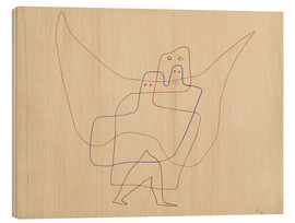 Obraz na drewnie  Angels Shut - Paul Klee