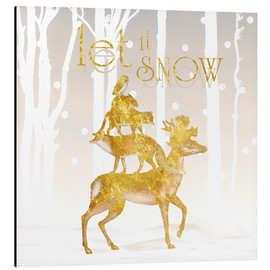 Obraz na aluminium  Let It Snow - Mandy Reinmuth