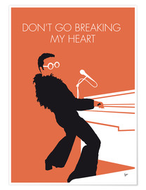 Plakat Elton John - Don't Go Breaking My Heart