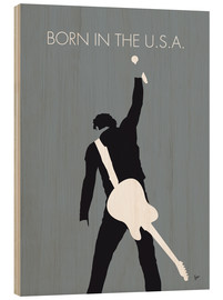 Obraz na drewnie  Bruce Springsteen - Born In The U.S.A. - chungkong