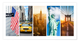 Plakat New York City Panorama Photo Collage