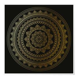 Plakat Mandala on Black