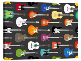 Obraz na płótnie  Guitar pattern - Kidz Collection